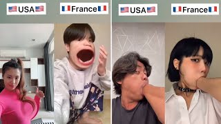 🔥 Battles Between the US and France on the Social Media ✅4 || TikTok Compilation