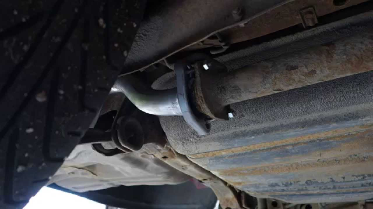 hight resolution of how to replace rear exhaust muffler pipe honda civic years 1992 to 2010 youtube