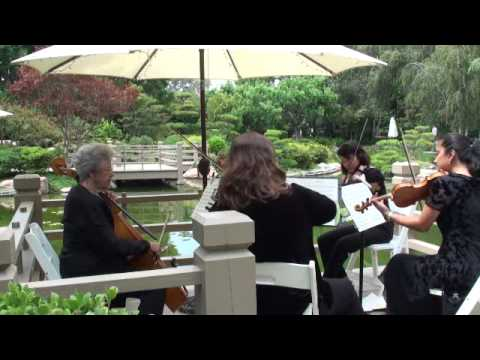 Southern Cities String Quartet performs Smile by Charlie Chaplin/arr. Warsager