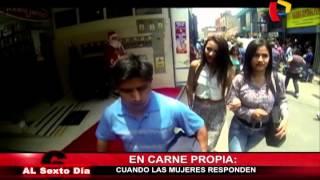 Repeat youtube video Acoso sexual en Lima: Cuando las mujeres responden a las agresiones verbales