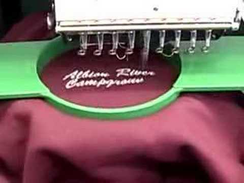Custom Embroidery Machine In Action Youtube