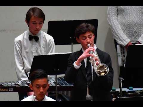 Psalm 42 by Samuel Hazo, San Joaquin County Junior High  Honor Band 2018,  Keagan Low, trumpet solo