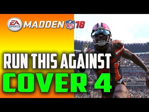 USE THIS RUN PLAY TO BEAT COVER 4 EVERYTIME! MADDEN 18 TIPS!