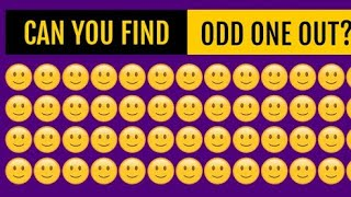 Can You Find The Hidden Odd Emoji Out? Odd Object Out|| (90% People will be fail) Brain Test