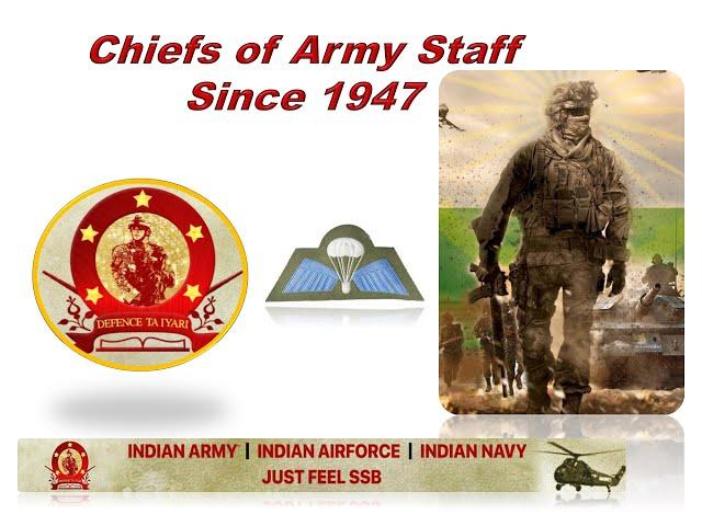 Indian Army Chiefs | Chiefs of Army Staff | AFCAT, CDS, NDA, Airforce X & Y Group | Defence Taiyari