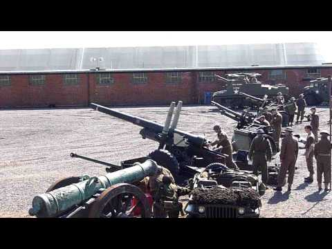 allied howitzer firing, fort nelson.  HD