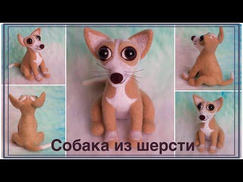 видео: Валяные игрушки. Собака из шерсти | felted toys. dog from wool (felting)