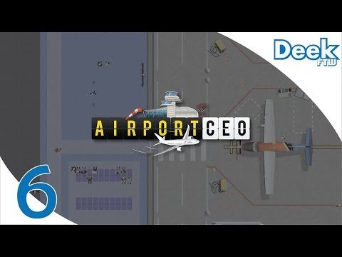 Let's Play Airport CEO - 6 - First Commercial Flights! New Baggage Scanners & Boarding Desks