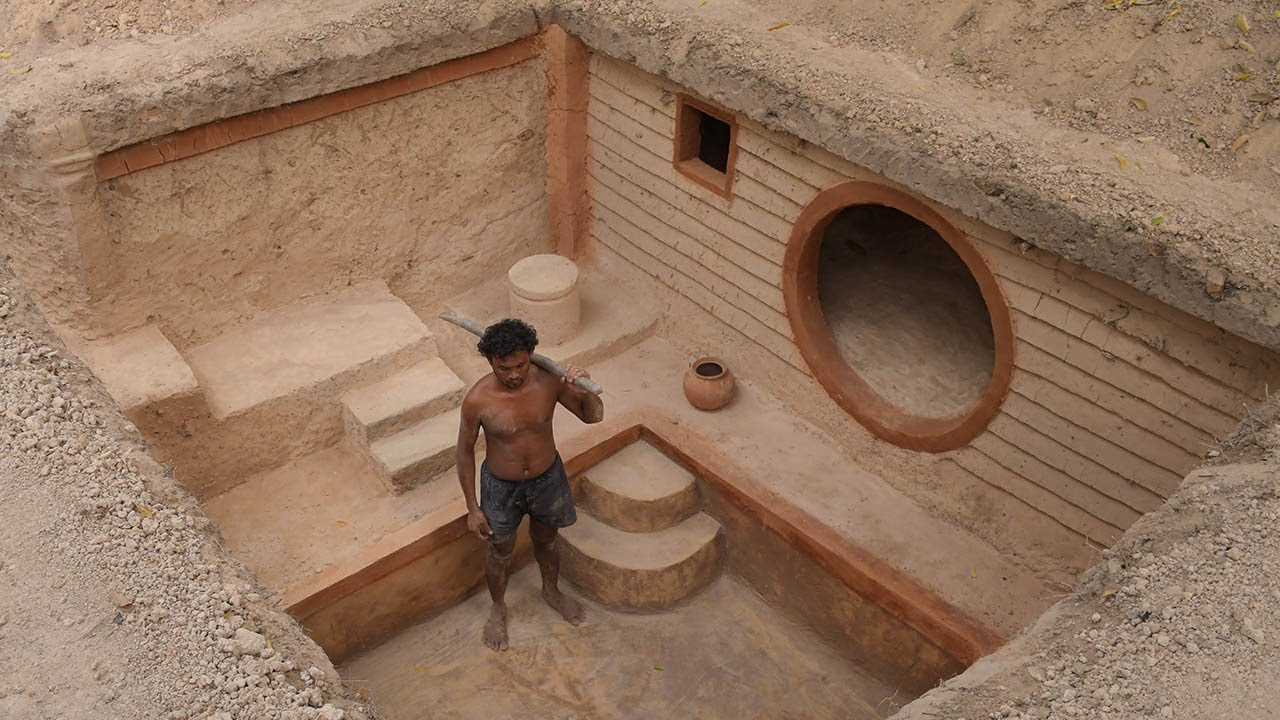 Dig to Build Underground House and Underground Swimming Pool - 1