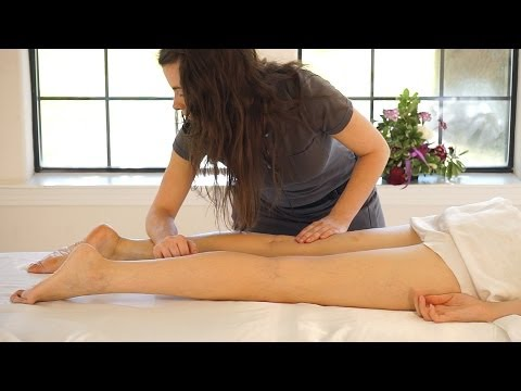 ASMR Leg & Feet Massage; Swedish Massage Therapy Techniques For Back Rubs; Full Body Massage Part 6