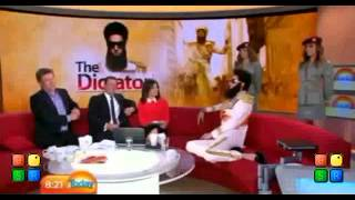 Sacha Baron Cohen Interview on today show (part 1)