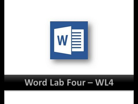 Microsoft Word Lab Four