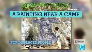 The murals denouncing the horrors of war in Yemen