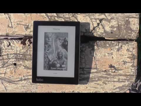 обзор японская электронная книга Kobo Aura E-ink Cool Reader с Aliexpress