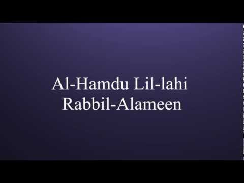 Learn Al-Fatiha (Opening Surah of the holy Quran)