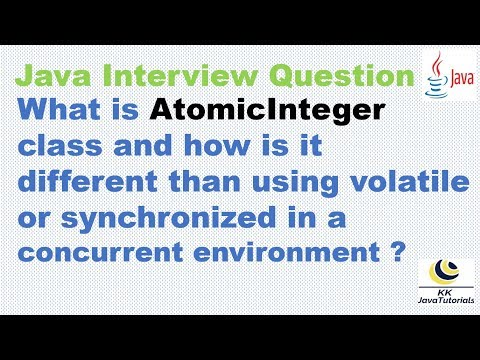 AtomicInteger Is How Different Than Using Volatile Or Synchronized In A Concurrent Environment?