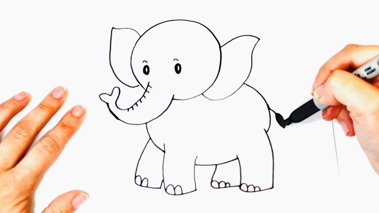 Como Dibujar Un Elefante Bonito