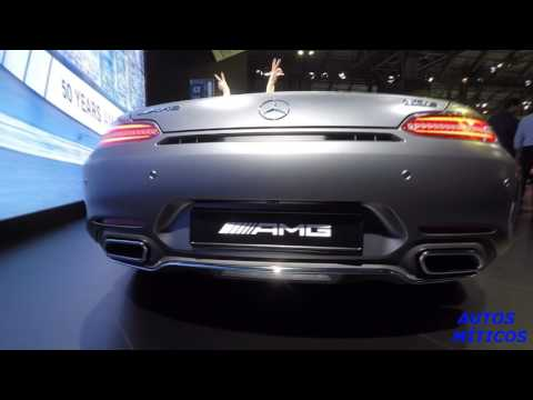 Automobile Barcelona: Flash Mercedes AMG GT Roadster 2017 Exterior/Interior