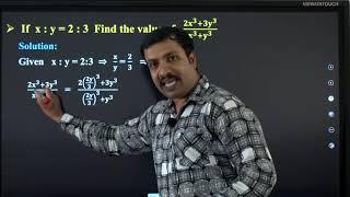 II PUC    Basic maths   Ratio-04