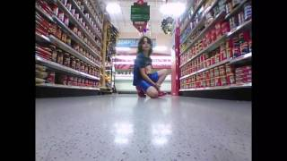 Parrot jumping sumo at the supermarket