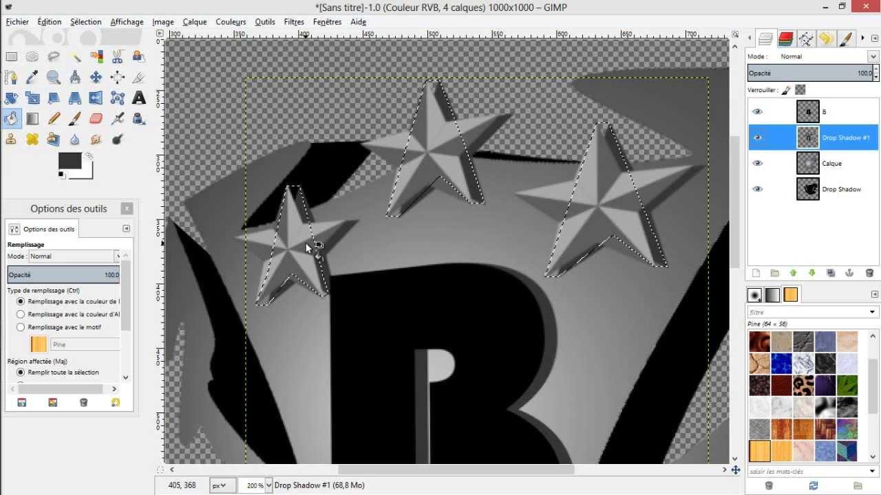 creer un logo avec gimp 2