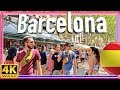 【4K】WALK La Rambla BARCELONA SPAIN walking tour 4k slow tv
