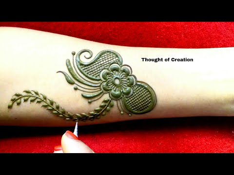 Arabic Mehndi Design for Hands |Thought of Creation