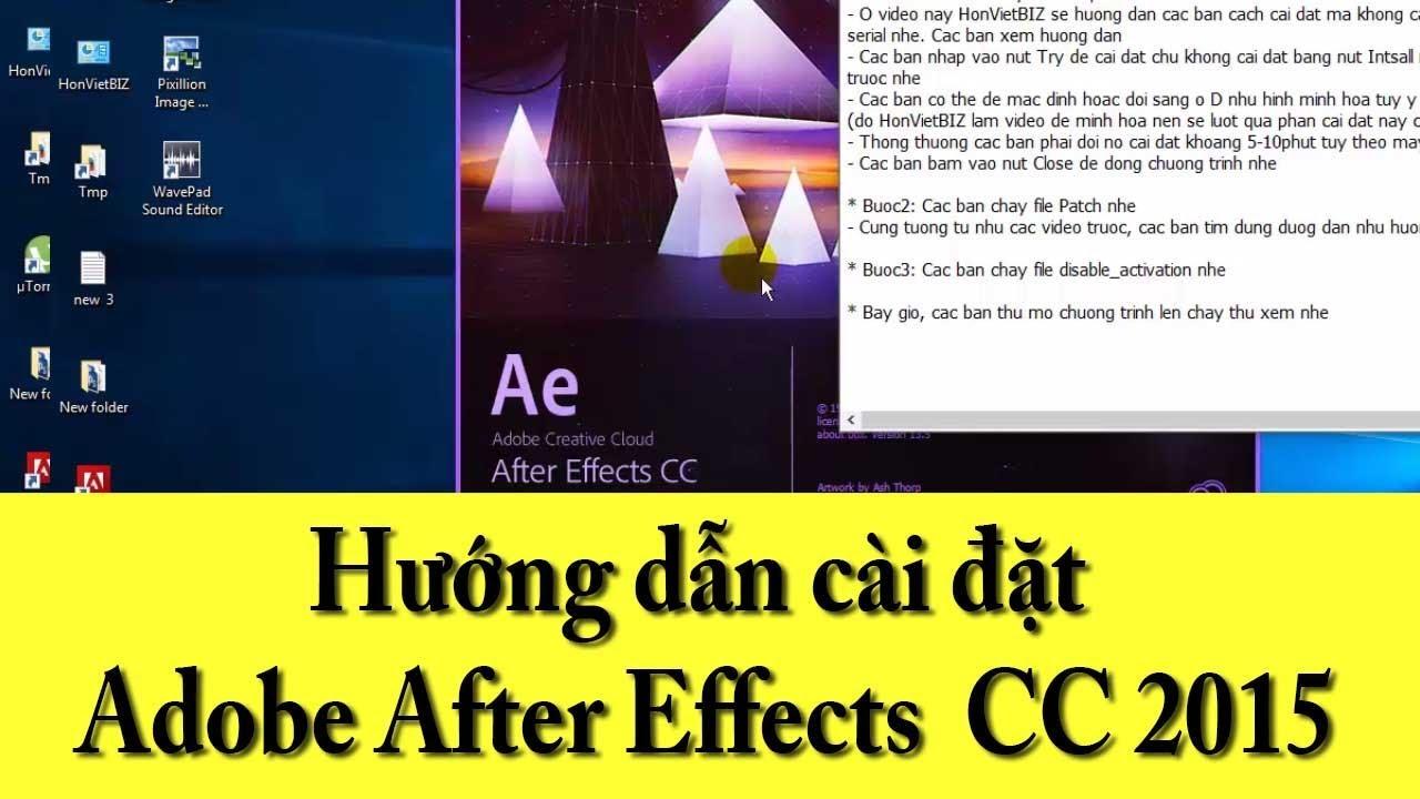 Hướng dẫn cài đặt Adobe After Effects CC 2015