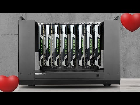 Beautiful 8 GPU Mining Rig Assembly And Review - 4K