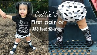 Callie's First Pair of AFOS!