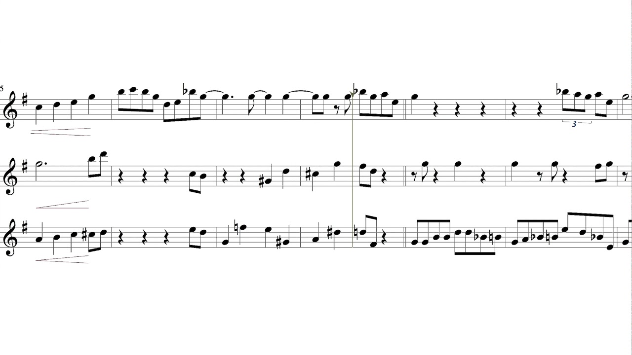 Easy 'New Orleans' Jazz 'Saxophone Duet with Solo on Top