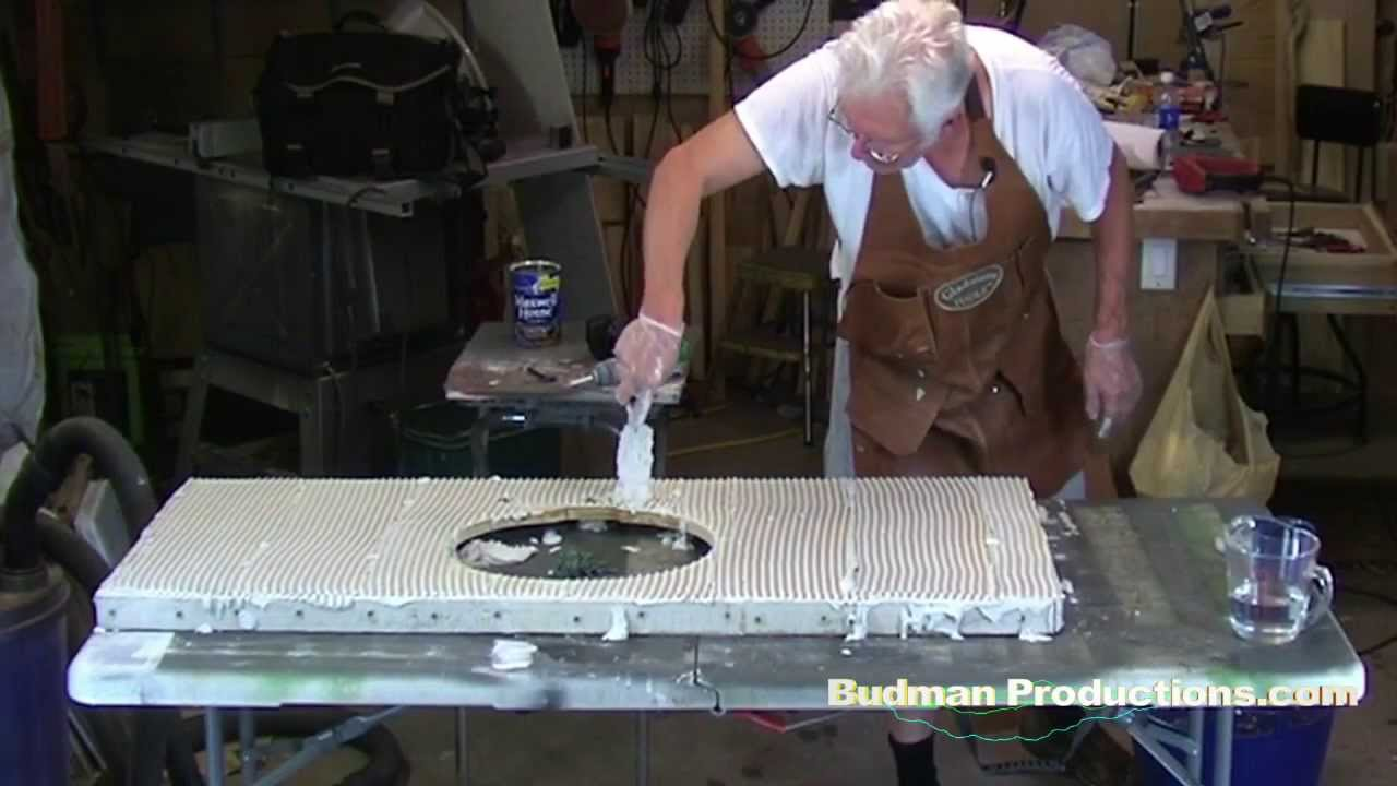 Applying Cement Board - HardiBacker to Counter Top or Vanity - YouTube