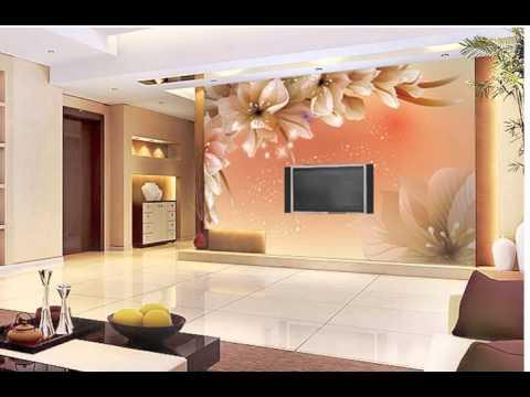 Best modern Wallpaper 3D mural Use Living Room Bedding Room - YouTube