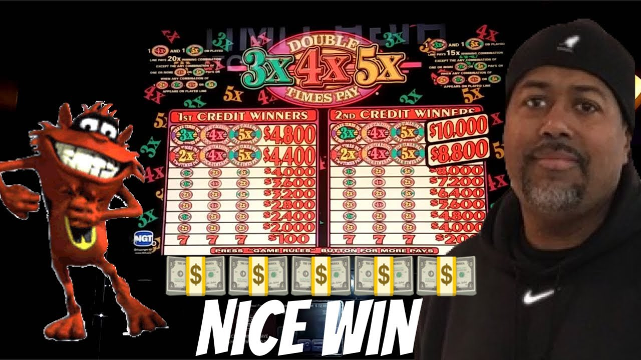 Double 3x 4x 5x Times Pay Slot Machine Nice Win Youtube
