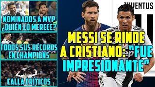 MESSI SE RINDE A CRISTIANO: FUE ESPECTACULAR | RIVALES MVP CHAMPIONS | LOS RÉCORDS DE CR7 UCL