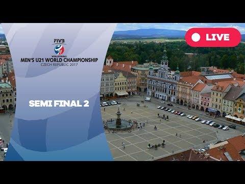 Semi-final 2 - Men's U21 World Championship 2017 Czech Republic