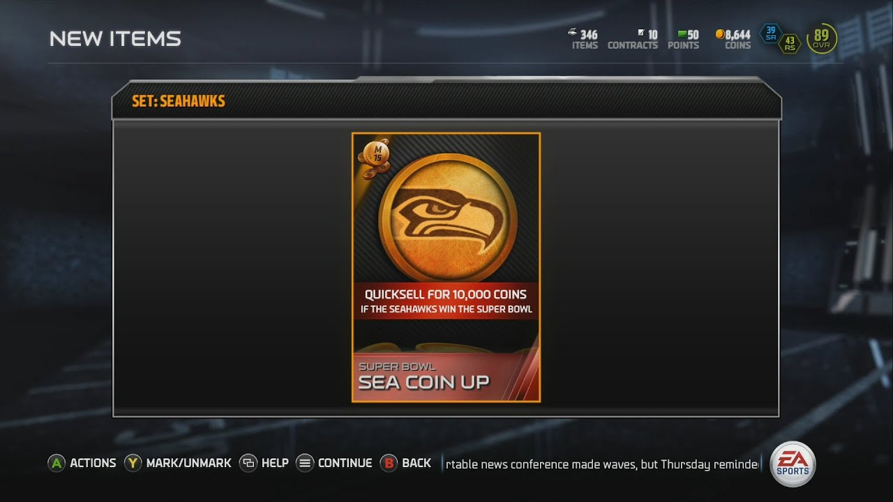Madden 15 mut ultimate team gameplay seahawks for the win 10 000
