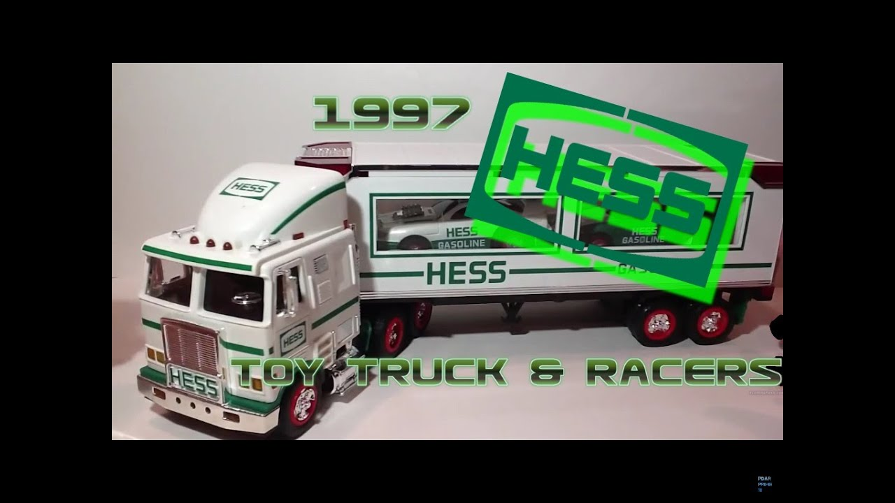 Video review of the hess toy truck 1997 hess toy truck and racers youtube