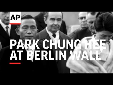 Mr Park Chung Hee At Berlin Wall - NO SOUND - 1964