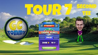 Golf Clash tips, Hole 8 - Par 4, Oasis - Tropic Kings Tournament - ROOKIE Guide