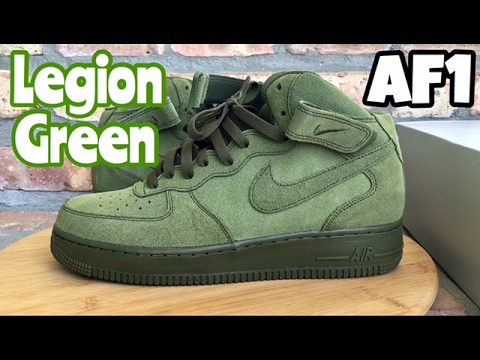 uk availability a97b1 436d4 ... cheap nike air force 1 mid olive legion green review youtube 0f0b5 02929