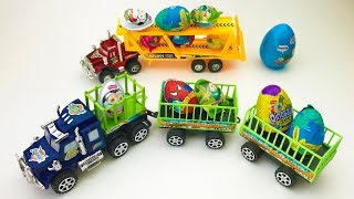 Surprise egg Truck carrying eggs Truck with surprise eggs Video for KIDS Toys for Children