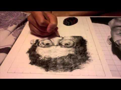 Chuck Close drawing