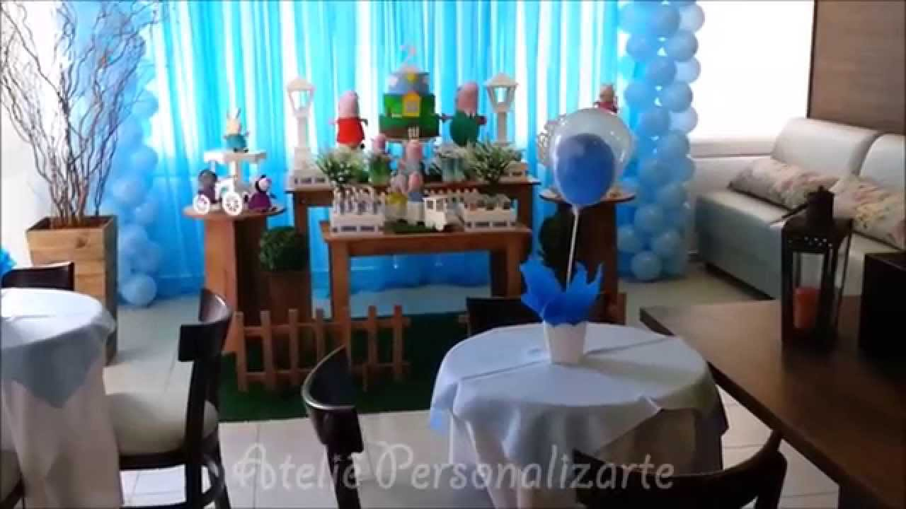 Decorao de festa infantil George Pig  YouTube
