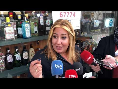 La estanquera del Ceuta Center, Victoria, habla sobre el cuarto premio dado