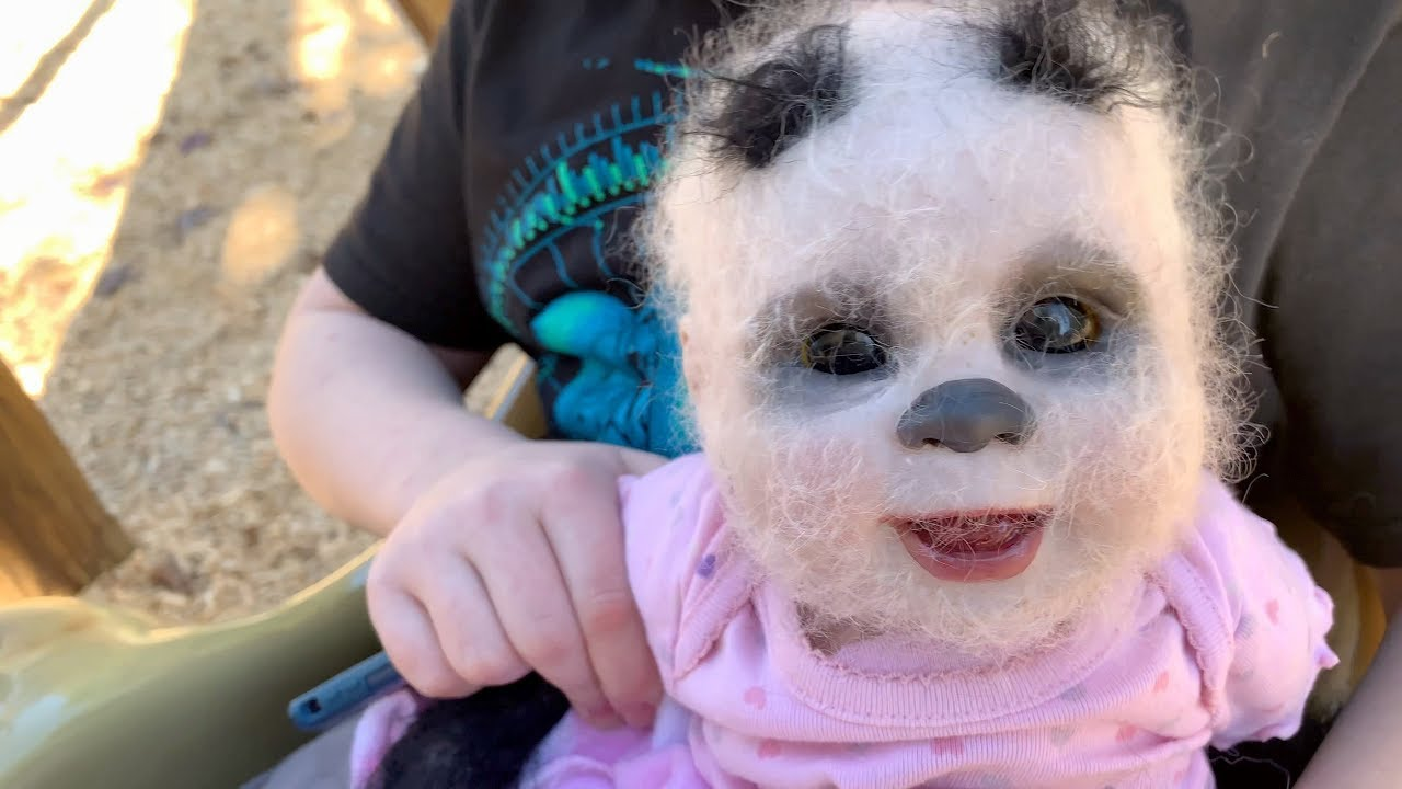We got a half panda, half human baby! - YouTube
