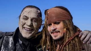Piratas do Caribe 5 - A Vingança de Salazar - Bastidores [Johnny Depp, Javier Barden]