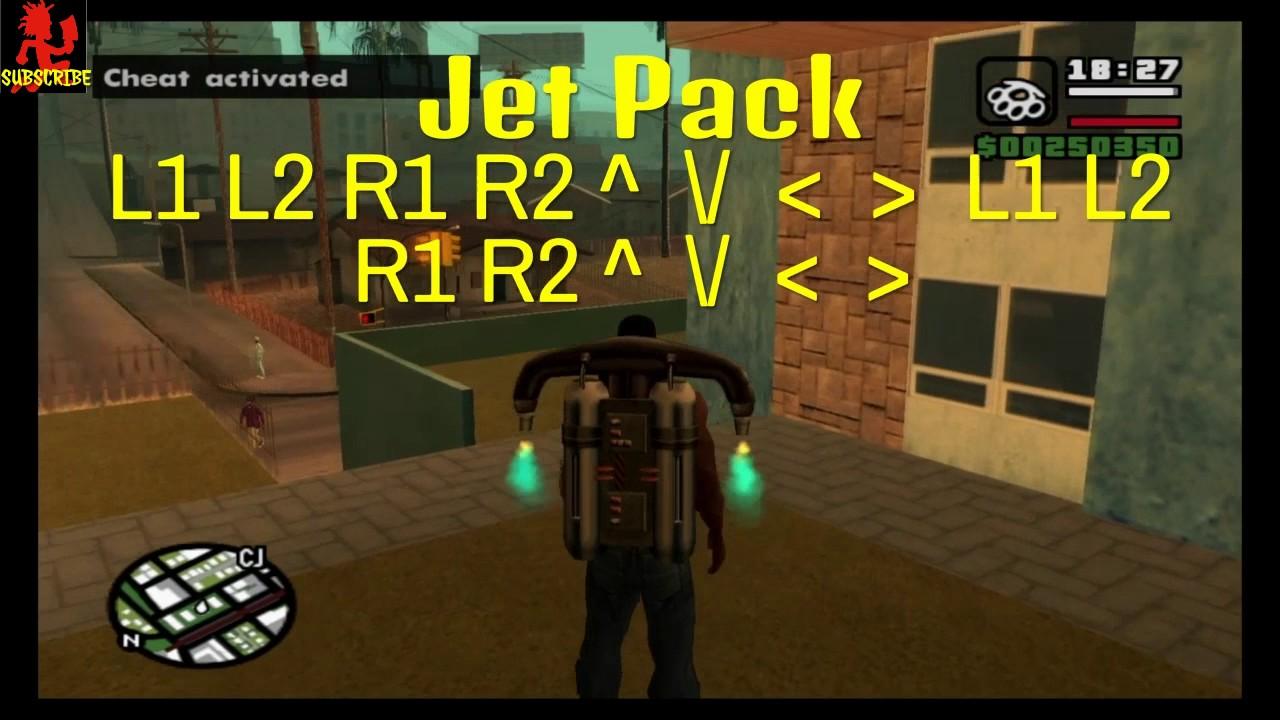 √ GTA SA cheats for PS3