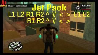 GTA San Andreas Ps2/Ps3/Ps4 Cheat Codes