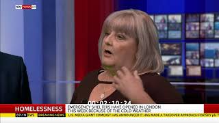 Mickey Ambrose Sunrise on Sky News - Sarah Jane Mee - Homelessness